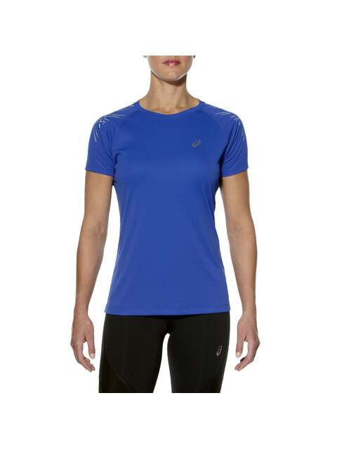 asics Stripe SS Top Women blue purple